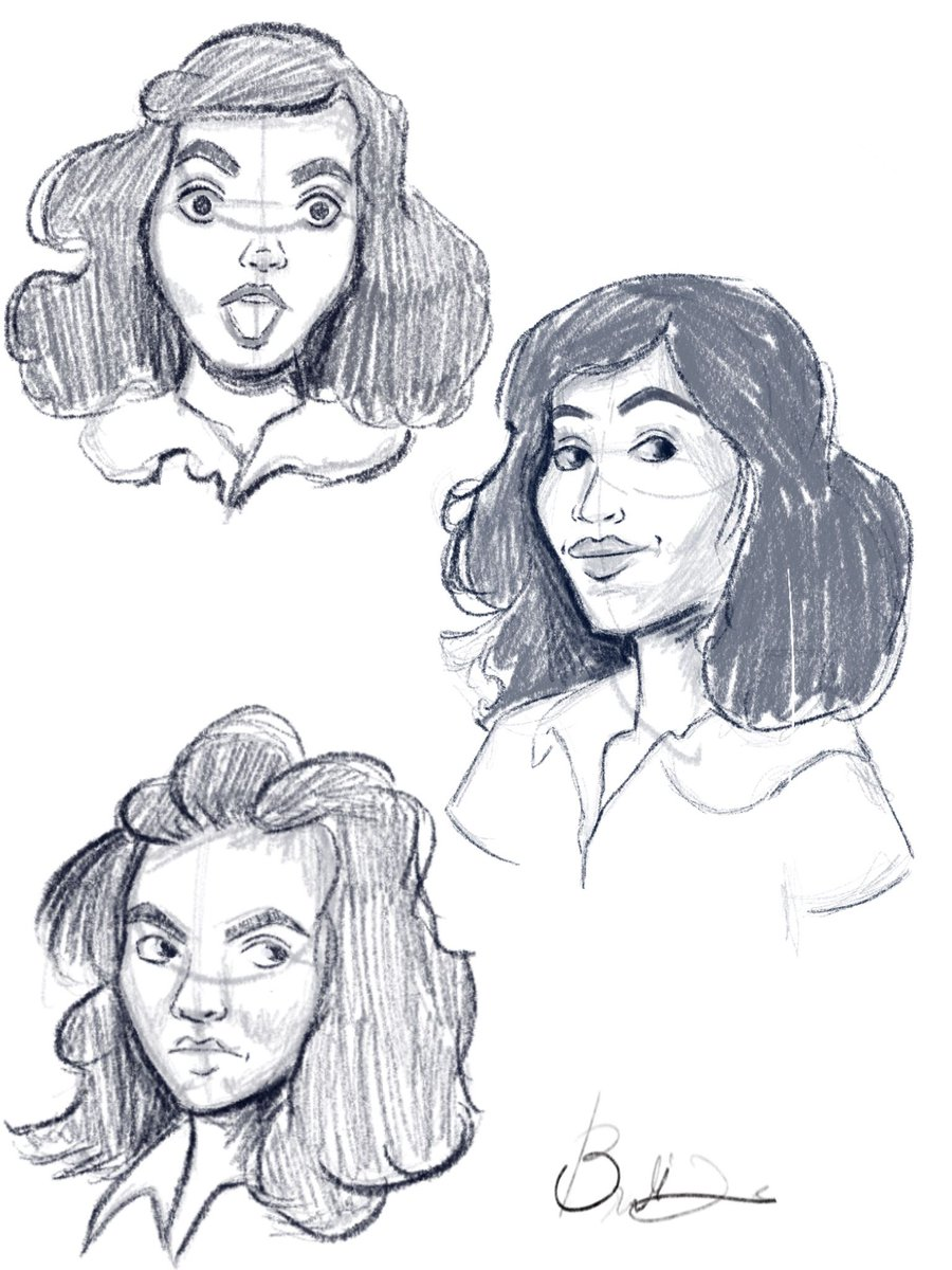 Practicing more facial expressions until I know what I want to draw. #sketching #instadaily #artistsoninstagram #dallasartist #procreate #procreateart #illustrations #facialexpressions #practice #tuesdayart #follow #art #shock #anger #smirk #painting #roughsketch