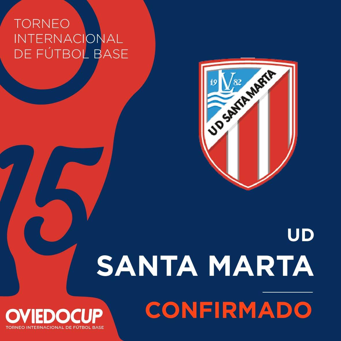   EQUIPO CONFIRMADO  ¡¡De nuevo, el club salmantino estará presente en la #OviedoCup2020!! @UDSantaMarta  #TorneoInternacional #FútboBase #OviedoCup #XVEdición #SemanaSantapic.twitter.com/wKObnXykZU