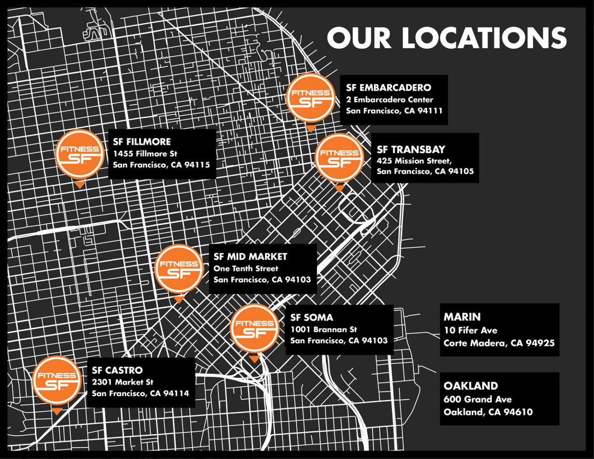 We're popping up all over the #BayArea!😄🙌 With 8 Locations strategically located along main transit lines, we make it very simple to get your workout in🏋️♀️ Which #Gym do you go to?