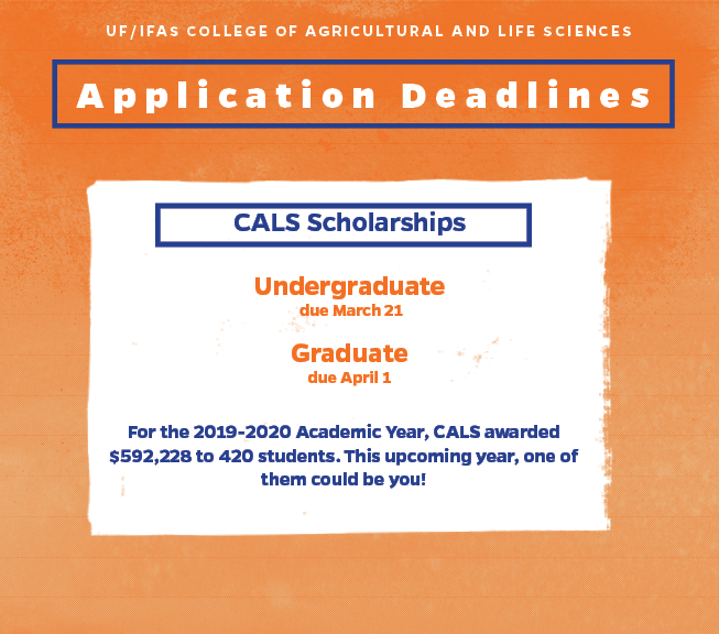 Our application deadlines are approaching fast!