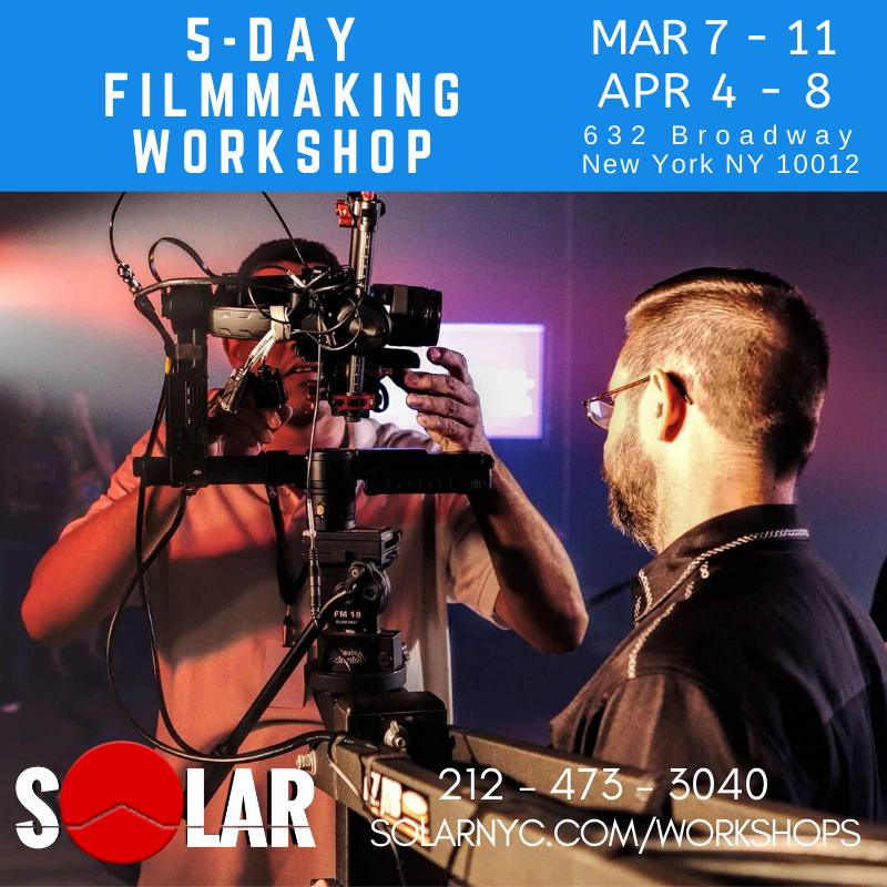 Didn't learn PRACTICAL skills at Film school? We put the CAMERA in your hands! 5-Day Hands-on Filmmaking Workshop APR 4-8 http://www.solarnyc.com/workshops Join us. Shoot like a PRO!  #filmmakingworkshop #filmmakingclasspic.twitter.com/J0krQp78Ib