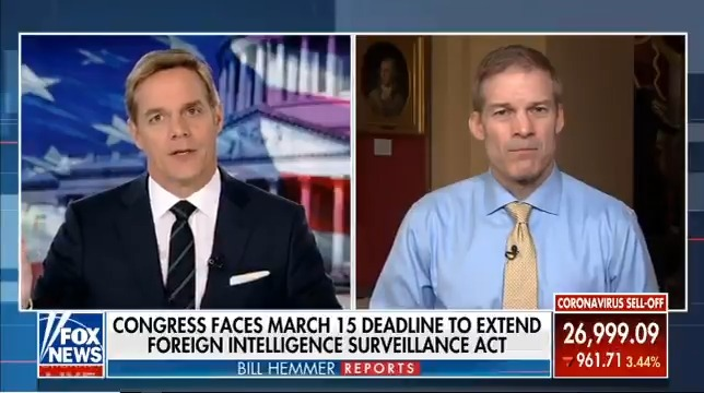 """FISA Reform markup tomorrow in Judiciary.  Remember, AG Bill Barr used the term """"political surveillance"""" to describe what took place. That should never happen in America!  That's why we need to make changes."""