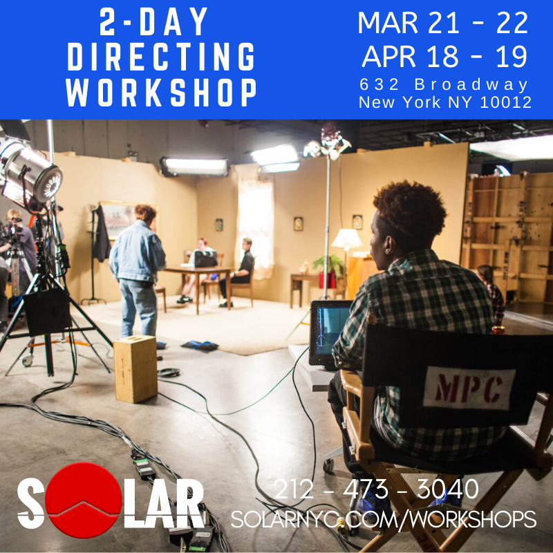 Be assertive in telling stories! Make better FILMMAKING decisions! 2-Day Hands-on Directing Workshop APR 18-19 http://www.solarnyc.com/workshops Join us! Sharpen your DIRECTING skill!  #filmmakingworkshop #filmmakingclasspic.twitter.com/oxi11g7aU7