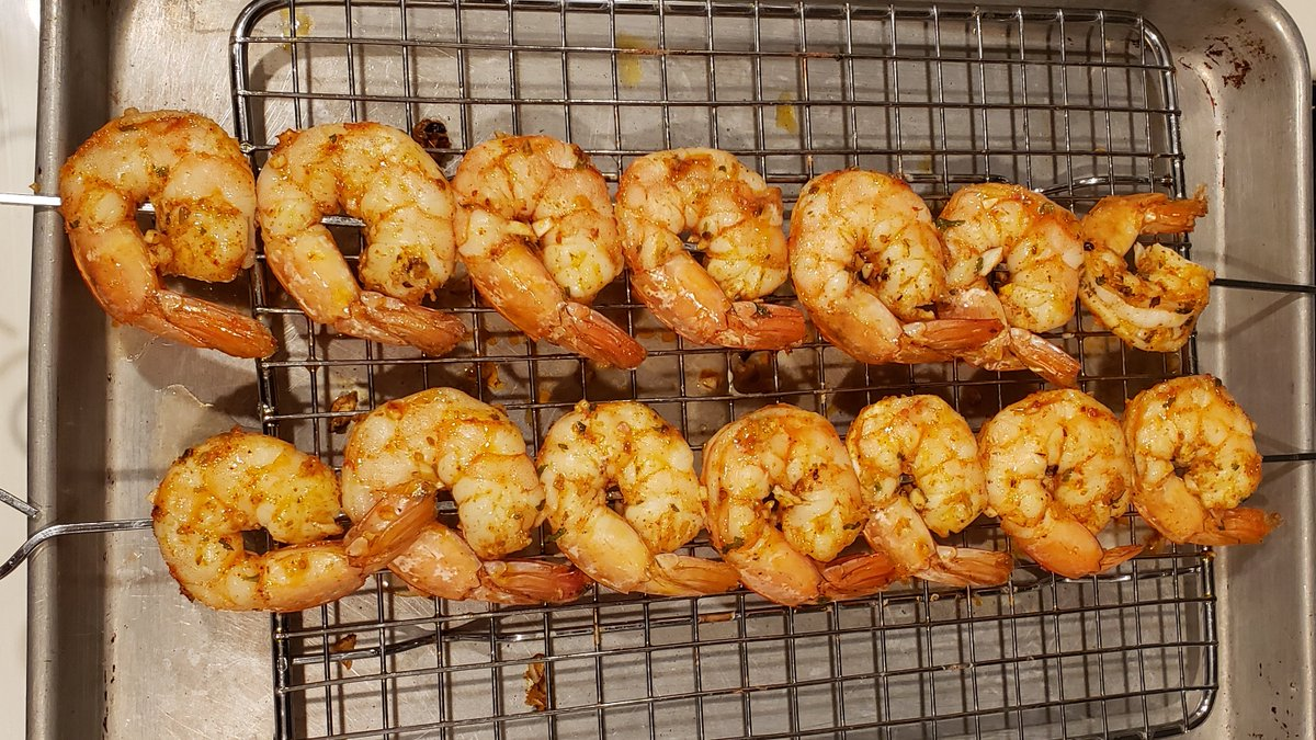 Savory Shrimp. Broil for about 2½ minutes on each side (about 120 - 125 degrees) Make this tonight and enjoy! See my IG post for the recipe  #food #cooking #chef #cheflife #cook #shrimp #savory