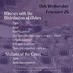 Image for the Tweet beginning: #WDC, it's #AshWednesday   Join us