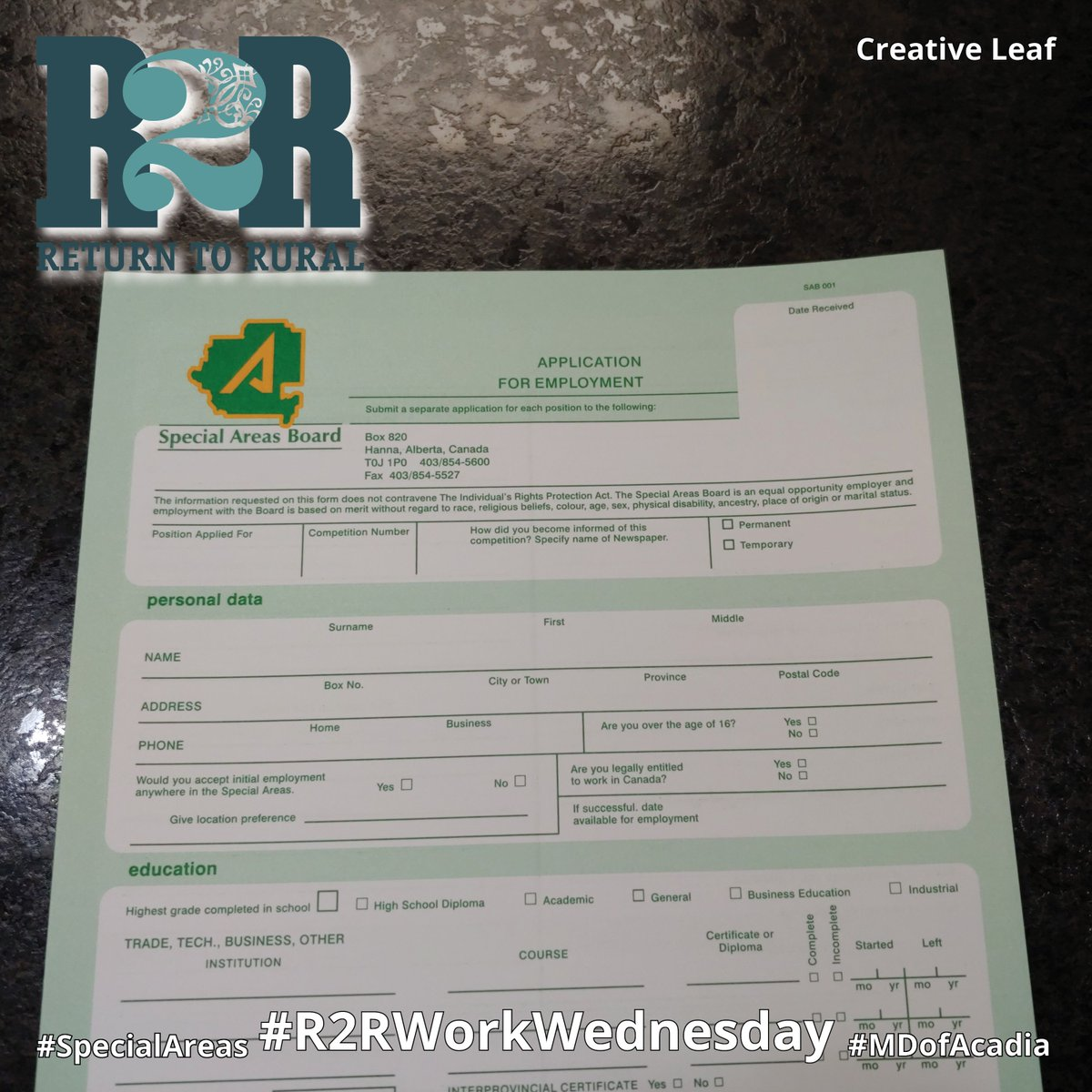 Tomorrow is #R2RWorkWednesday and @SpecialAreas is just one of the many places hiring!  #R2R #SpecialAreas #MDofAcadia #Alberta #Hiring #Return2Rural #WorkWednesday #RuralAlberta #Employment #Rural #RuralJobs #RuralWork #AlbertaJobs⠀  Photo by @CreativeLeafSMpic.twitter.com/VQzDmpLxxF