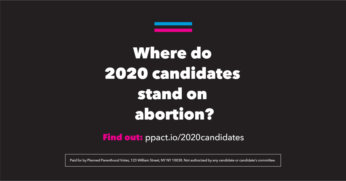 In the meantime, heres what we know about the candidates positions on abortion and other reproductive health care → ppact.io/2020candidates #WeDecide2020