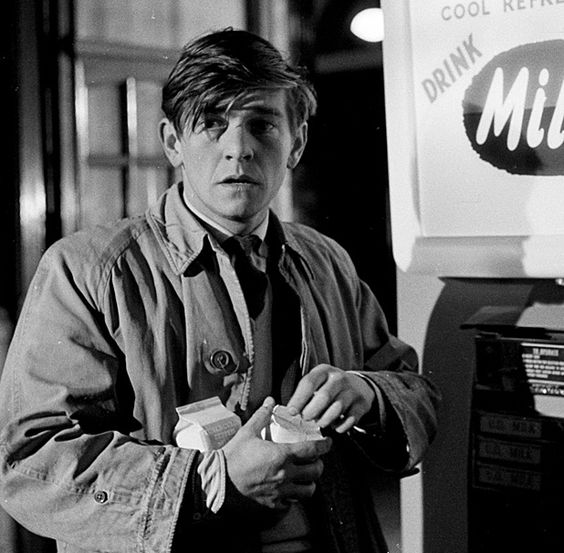 """Happy Birthday to English actor Tom Courtenay born today in 1937. Here he is in the 1963 movie \""""Billy Liar.\"""""""