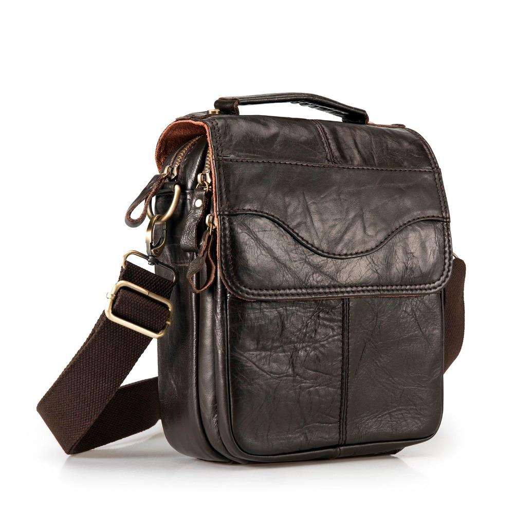 #design #shirt Casual Leather Messenger Bag for Men