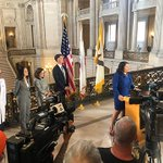 Image for the Tweet beginning: Mayor London Breed declared a