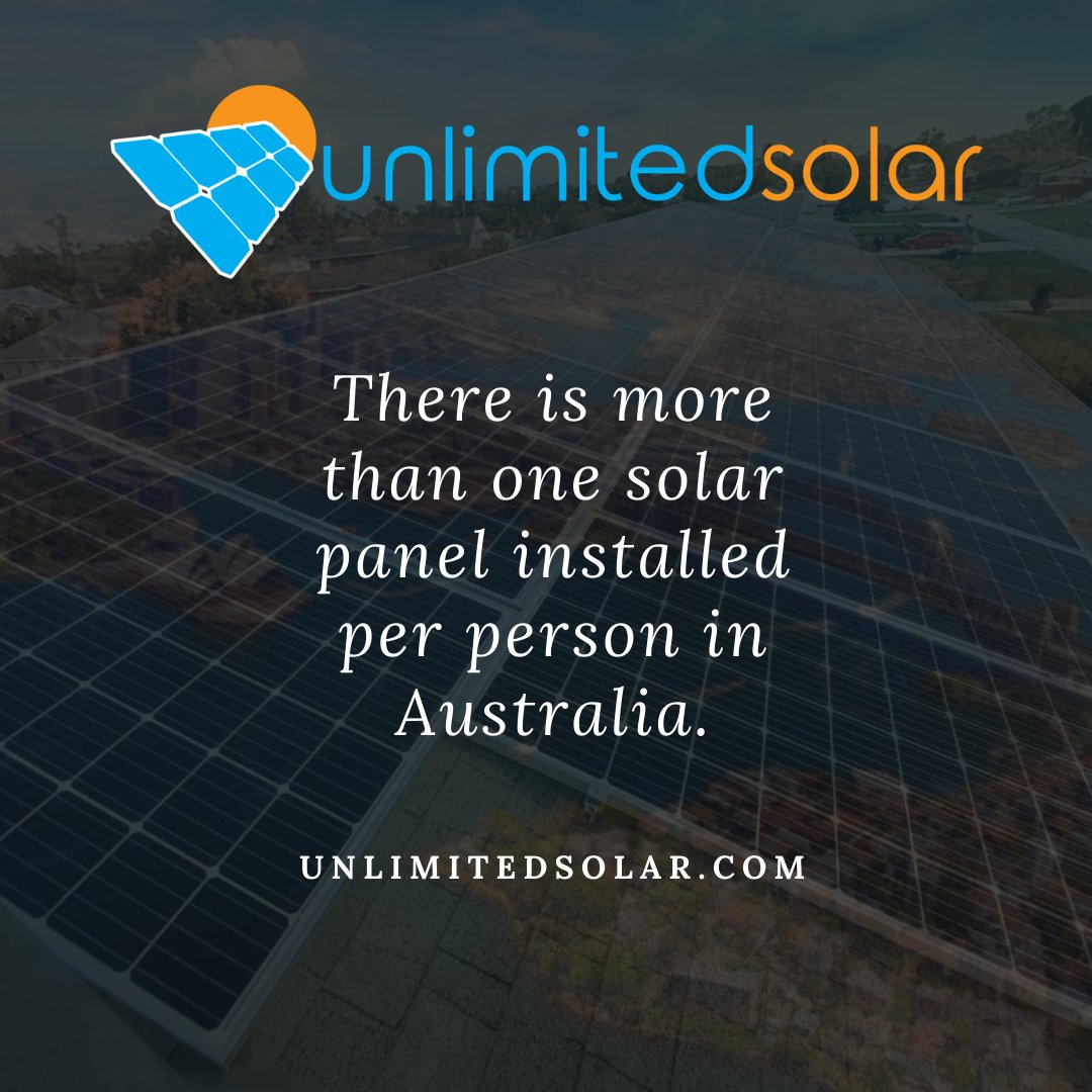 There's more than one solar panel  per person installed in Australia now! Learn more  at http://unlimitedsolar.com  #environment #nature #climatechange #sustainability #ecofriendly #savetheplanet #gogreen #earth #sustainable #eco #globalwarming #pollution #reuse #savetheearth #sun
