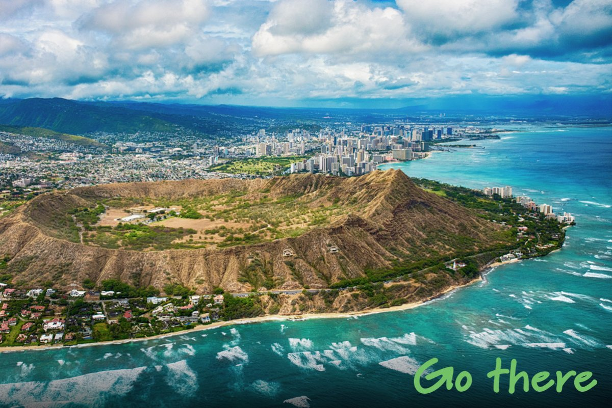 Hiking the #DiamondHead crater it offers 360 views of Honolulu and the Pacific Ocean 🌺 Best of all it's only $1 to enter so why not #GoThere? ✈️