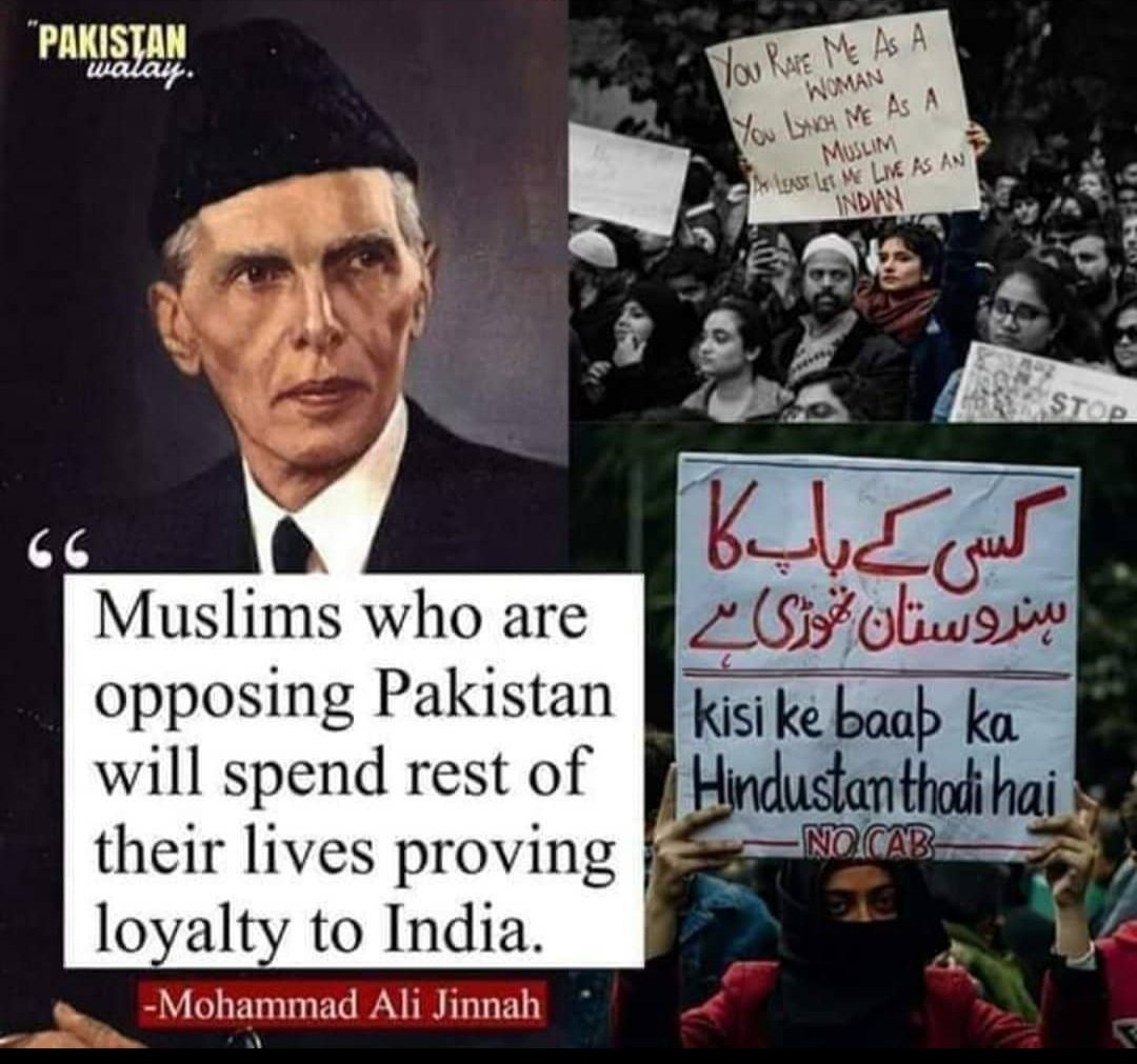 What Nehru and Gandhi failed to see 72 years ago, Muhammad Ali Jinnah saw it with clarity and right now the world is watching. Thank You Muhammad Ali Jinnah For #Pakistan.   #DelhiBurning  #DelhiViolence
