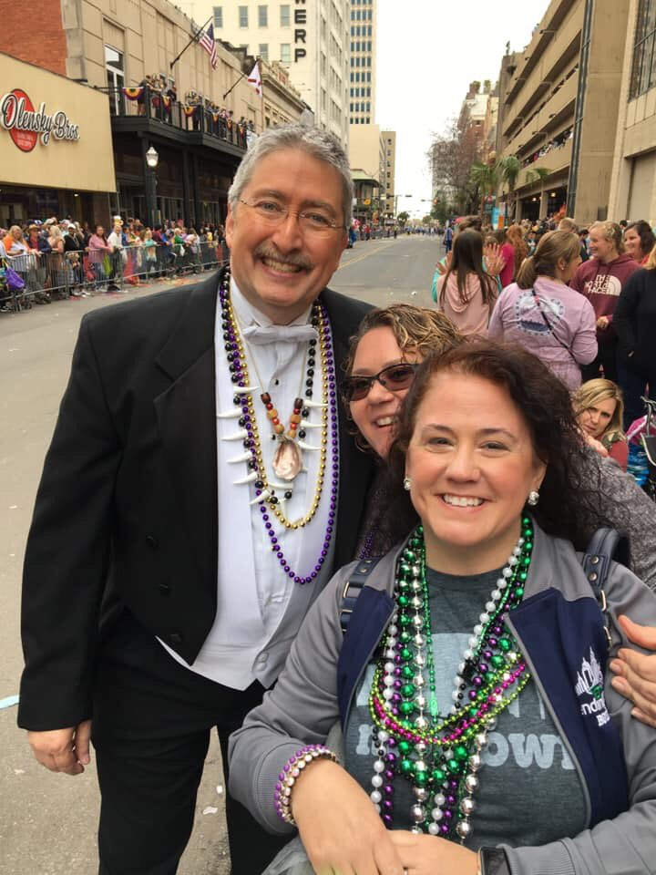Over 30 years of Fat Tuesday downtown and I FINALLY get to have a pic and meet the amazing @WKRG_John !! Best Mardi Gras ever! #mobilemardigras2020 pic.twitter.com/dGrsvJCfid