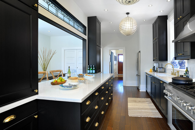 Steal this #style for your own home! Here's how galley kitchens find purpose and style. #design