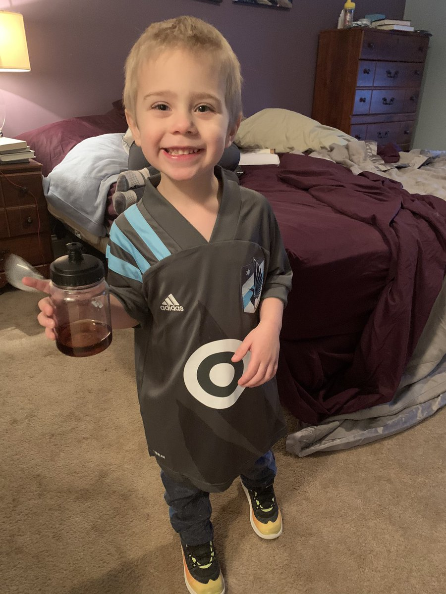 Hey @MNUFC! Someone is excited his jersey arrived! #MightyMax #COYL