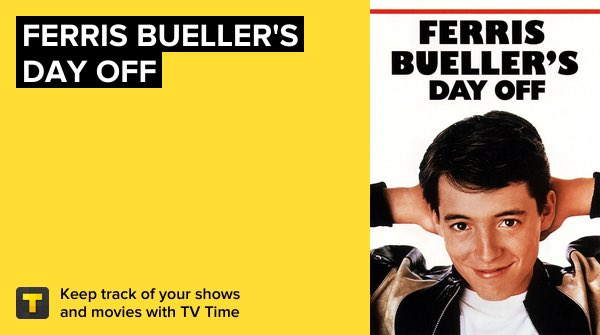 #NowWatching Ferris Bueller's Day Off   This is one of my favorite movies  all time  It's easy on my top 10 of comedies   #FerrisBuellersDayOff #FerrisBueller #MovieTime  https://tvtime.com/r/180svpic.twitter.com/RKVREgfK77