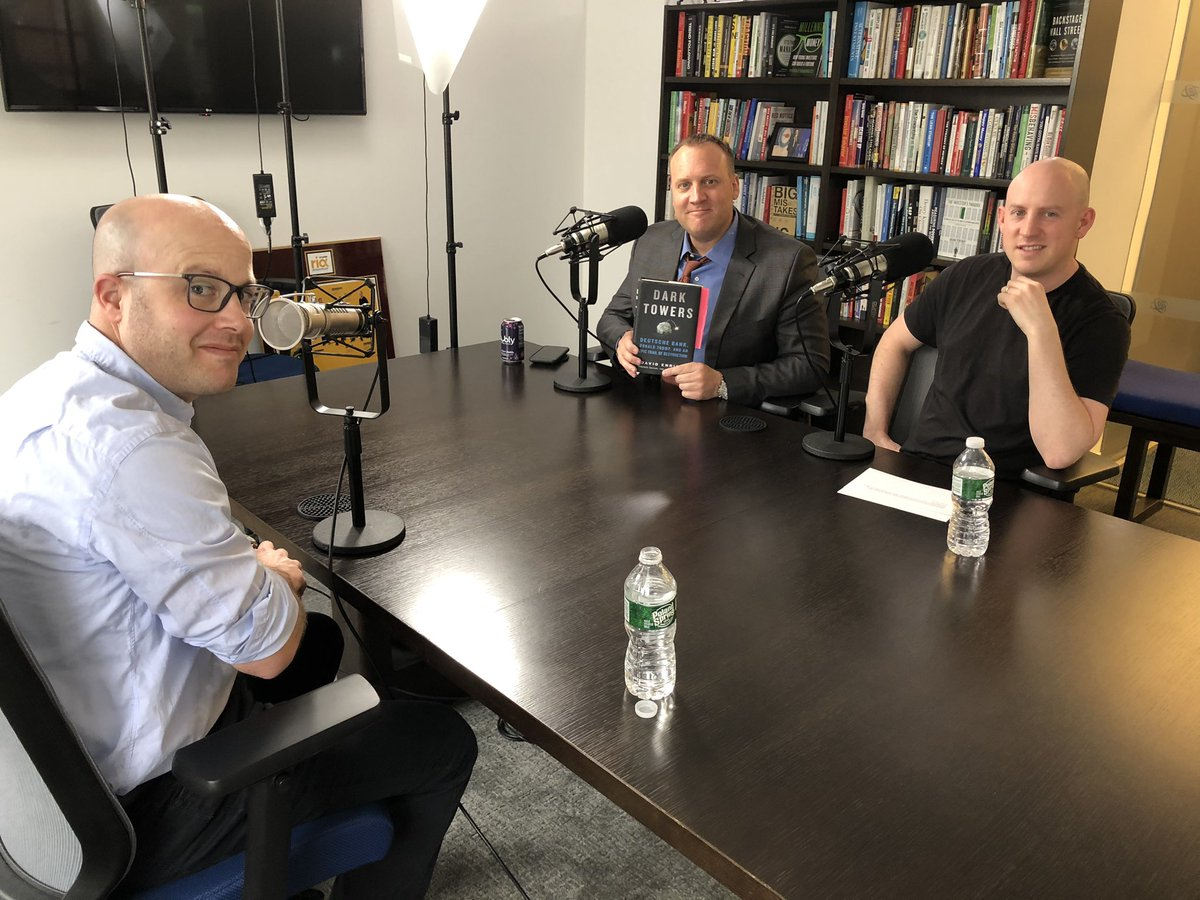 I had lots of fun today recording a podcast and video with @ReformedBroker and @michaelbatnick about @DeutscheBank and DARK TOWERS. Coming soon to YouTube!
