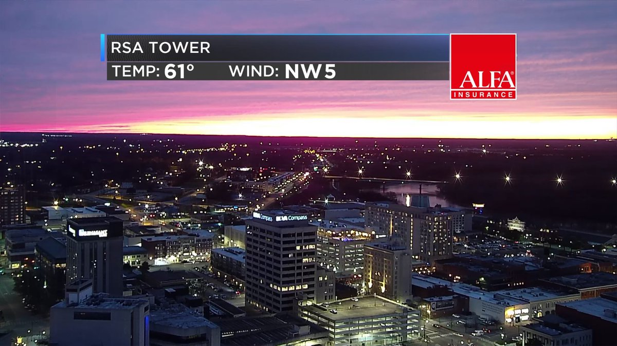 Awesome sunset over Montgomery 😍 Did you catch it?