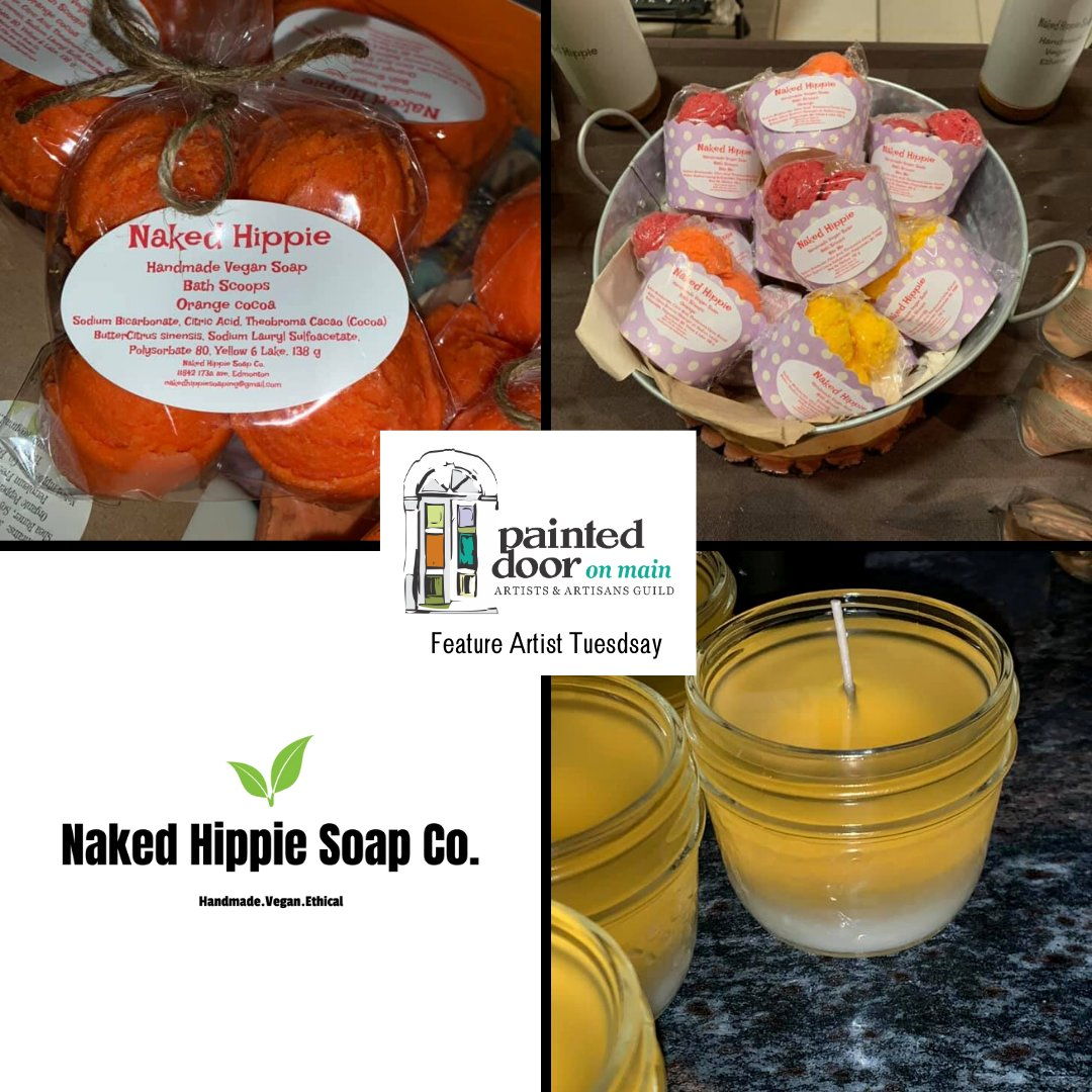 Naked Hippie Soap Co. Handcrafted in small batches to ensure quality with plant based ingredients. No petroleum, parabens or palm oil used.  #vegansoap #handmade #nakedhippiesoap #soap #soapmaking #handmadesoap #vegan #naturalsoap #artisansoap #handcraftedsoap #painteddooronmain