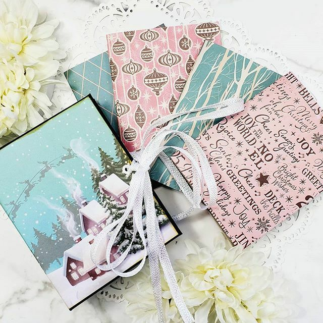 I spent some time working on one of my #12monthsofChristmas projects in this morning's LIVE stream. Check out this #handmade #travelersnotebook style #junkjournal.  #journallifesjourney