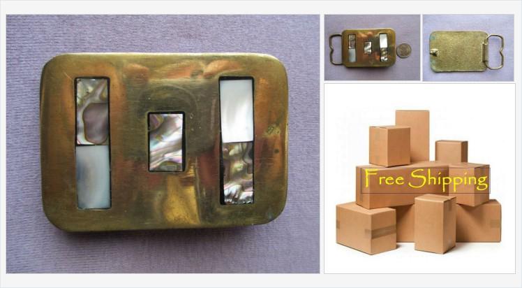 Brass #Abalone Mother of Pearl Buckle #Vintage #Handmade, Geometric Inlay, Free Shipping #etsyspecialt #etsyseller #shopsmall #VintageEtsy @SNRTG @SGH_RTs @blazedrts @SpxcRTS #etsy #etsypro @SympathyRTS @FearRTs @RTFAMDNR @Cods_Rts