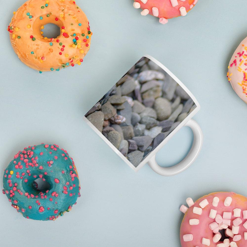 Coffee Mug, Pebbles Coffee Mug, Mug, Coffee Mug, Cup, Tea Cup, Ceramic, Cup, Ceramic Mug,  #woodenfurniture #handmadefurniture #tvcabinet #madeincumbria #lakedistrict #Giftideas #furniture #handmade #PictureMug