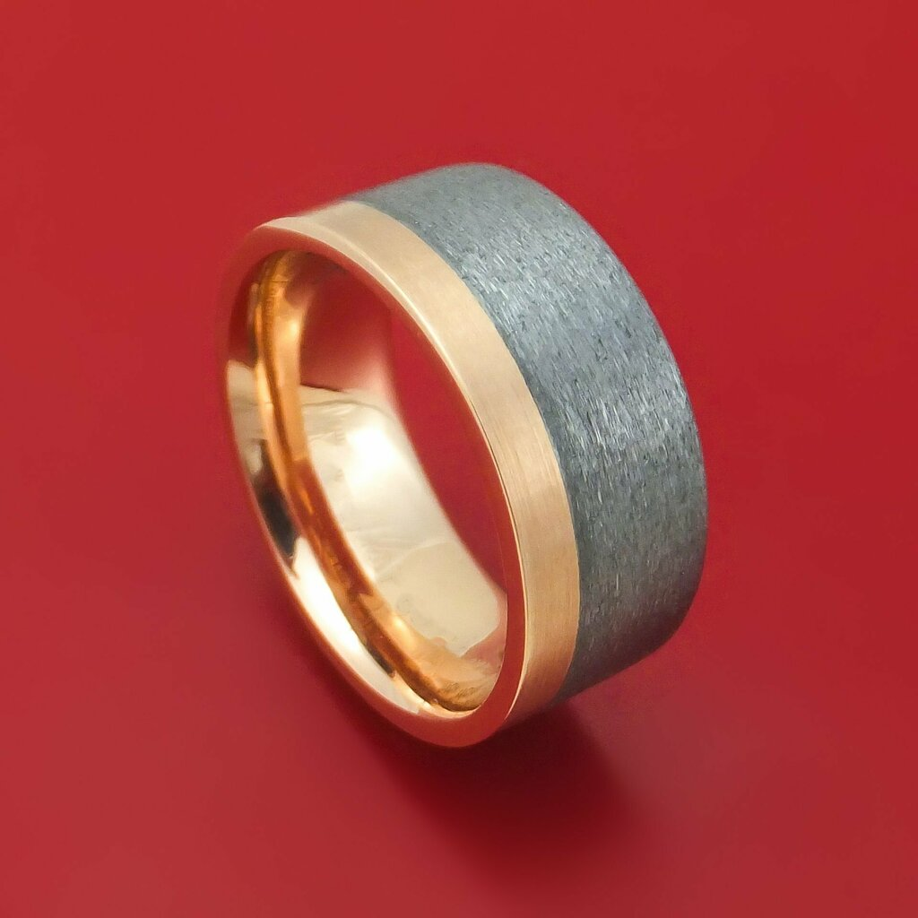 Newly listed product - 14K Gold and Tantalum Ring Custom Made Band - Pricing and other details are at http://bit.ly/2HXQQ3z  #weddingrings #mensringspic.twitter.com/jzTXvINK9e