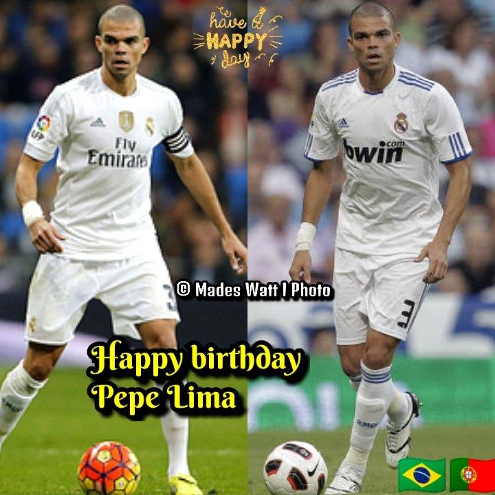 """#HABIDAY TO PEPE 🇧🇷🇵🇹 Joyeux anniversaire 🎂🎁 à l'ancien défenseur du Real Madrid : Képler Laveran Lima Ferreira """"Pepe"""" qui souffle ses bougies aujourd'hui. Il a marqué 15 buts en 334 matchs 2007/2017 Bon 3⃣7⃣e anniversaire à lui @realmadrid  #HALAMADRID 👉 🇪1⃣ 🏆3⃣ 🇸👈"""