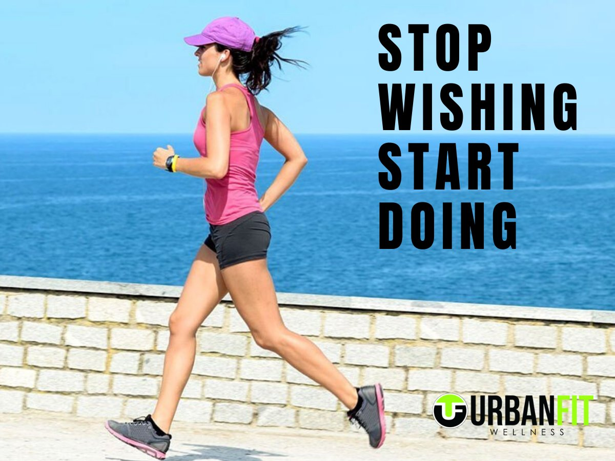 Follow @UrbanfitA for daily fitness tips & facts!  Stop Wishing, Start Doing.  #fitness #health #motivation #gym #fitnessgoal #fitnessmotivation