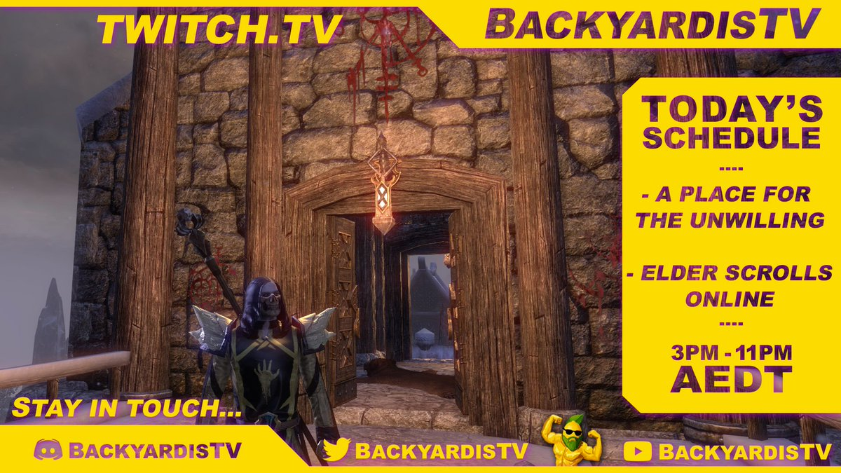 Today's Stream agenda is ready! - A Place for the Unwilling   Then  - The Elder Scrolls Online  See you at 3pm AEDT pic.twitter.com/BCSQQcsxVI