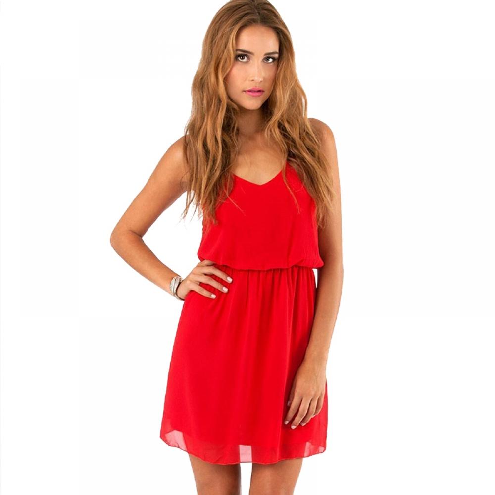 #design #likeforlike Women's Sleeveless Cami Mini Chiffon Dresses