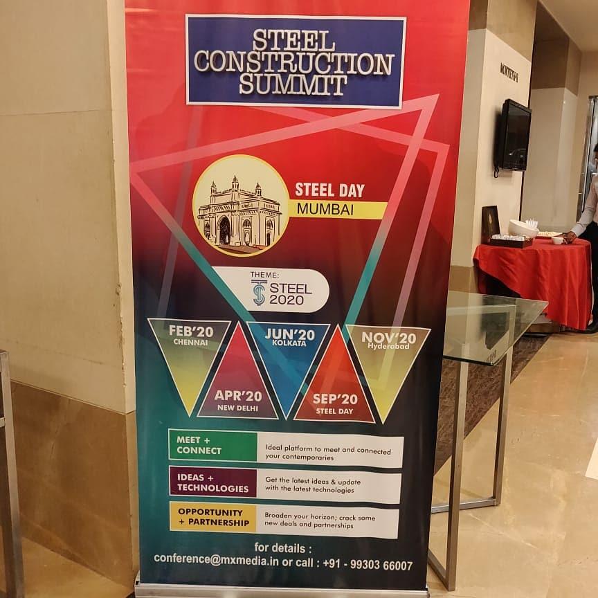 Steel Construction Summit - Chennai.   #corroshield #fasteners #screw #peb #roofingsteel #steel #summit #mxmedia #metalbuilding #architecture #Consultant