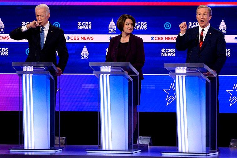 Joe Biden and Tom Steyer attack each other's records on race cnn.it/2SYlpfA #DemDebate