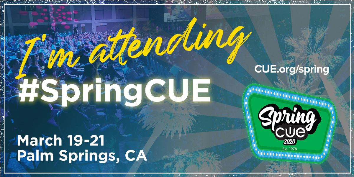 We are excited to be exhibiting at #springCUE in a couple weeks!