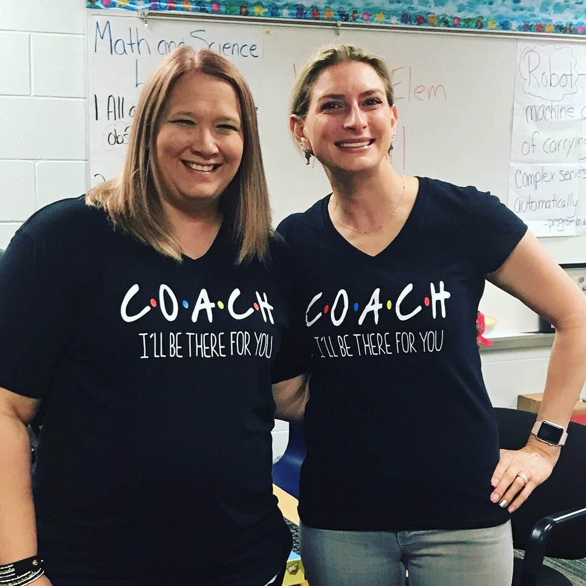 @Ventura_Tigers is a GREAT place to work! My fabulous reading coach Jennifer Bundy got us these shirts. Her support to our students & teachers is second to none! I love working with her #SDOCGoodToGreat #MathScienceCoach #ReadingCoach #Friends #IllBeThereForYou #Coachpic.twitter.com/j9jQcNOWTw