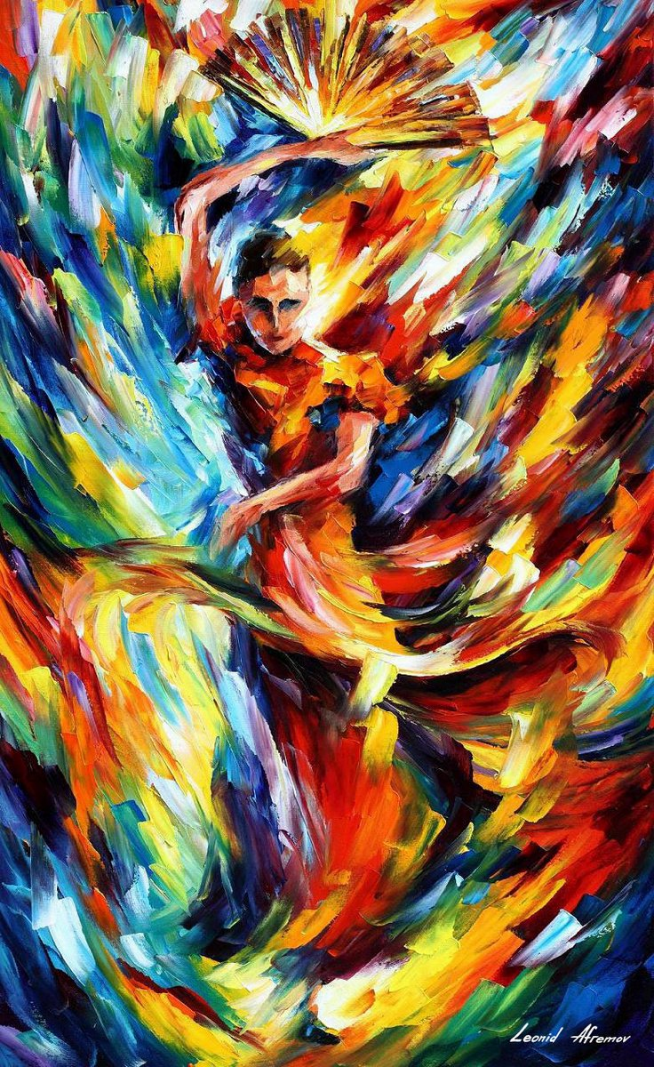 FLAMENCO FESTIVAL — PALETTE KNIFE Oil Painting On Canvas By Leonid Afremov https://afremov.com/flamenco-festival.html …  Please click on the link to see this painting on the site #contemporarydrawing #artoncanvaspic.twitter.com/dUkoPpcxRt