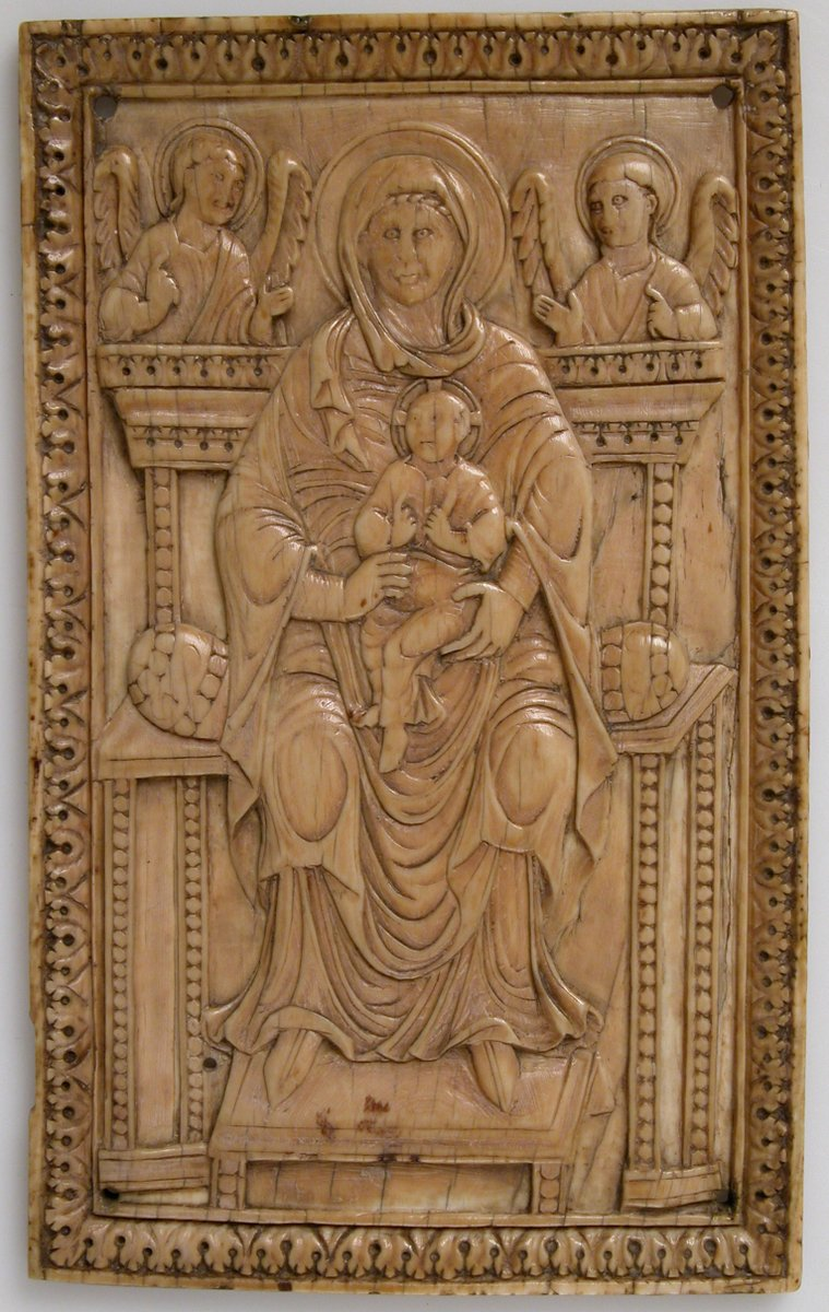 Plaque with Enthroned Virgin and Child  #MedievalArt #themet