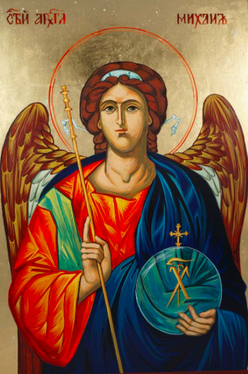 O Holy and Great Archangel of God, Michael, To thee we have recourse in faith, and we entreat with love: be thou an indestructible shield for the holy Church and the faithful, guarding them by the lightning power of thy sword from all enemies visible and invisible. Amen