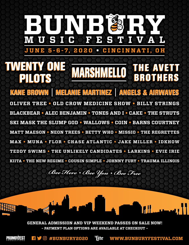 Bunbury Music Fesival 2020  lineup