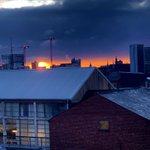 Image for the Tweet beginning: Wednesday sunrise 😃....Looks moody 😡...@theJQbrum