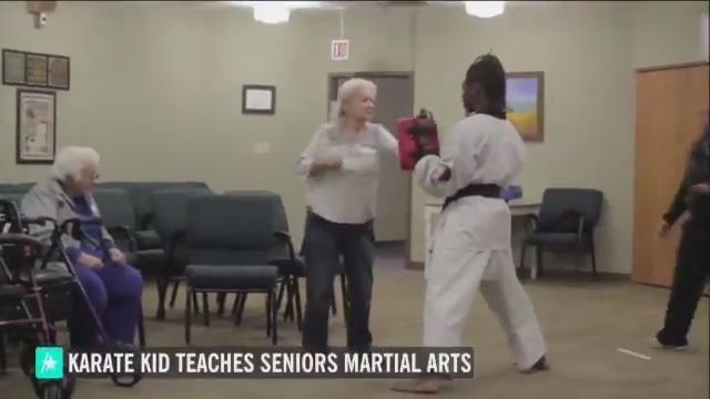 This real-life karate kid brings his martial arts mastery to senior citizens!