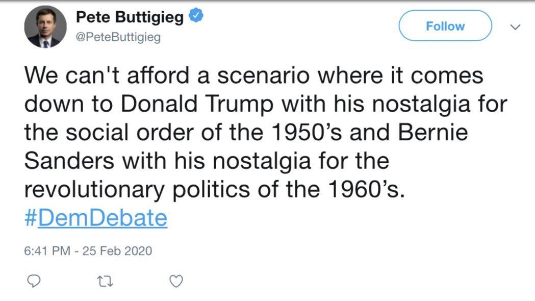 That revolutionary politics of the 1960s.