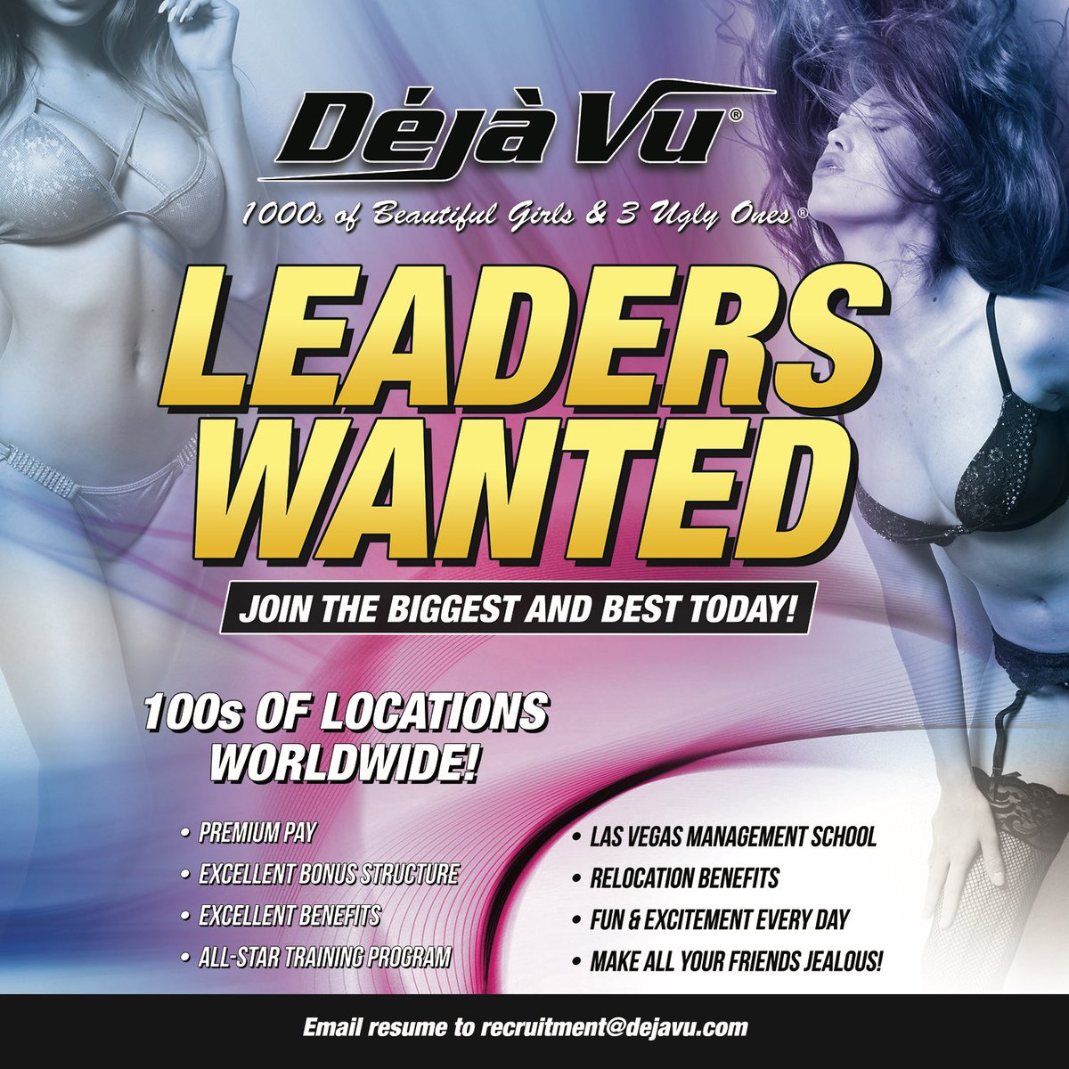 Leaders wanted! Apply online today! 💻😎 . . . #dejavu #party #nightlife #barscene #wow #hot #workout #instadaily #selfie #girlswithtattoos #girlswholikegirls #sexy #stripclub #dancer #gentlemen #showgirls #babes #weaimtoplease #simplythebest #drinks #shottime #getoutandlive