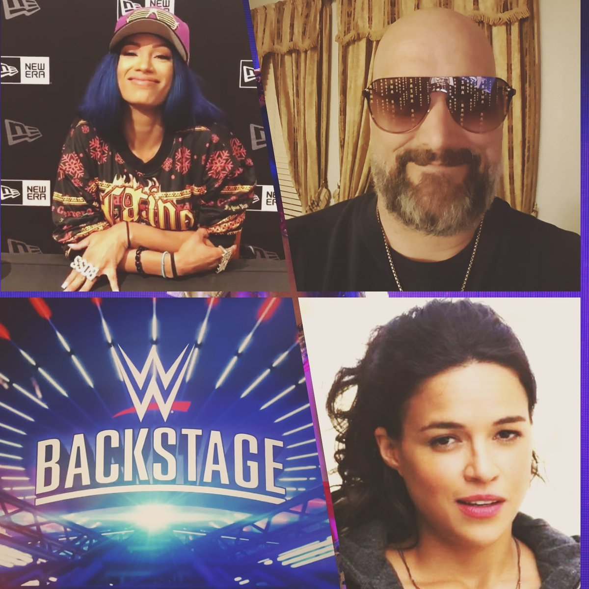 Next Watching #WWEBackstage #LetsGo Y'all #Happy #Selfie #WrestlerLover #SashaKrew #LegitBlueprint #mrodfamily #mrodlover 😊😍💙💜