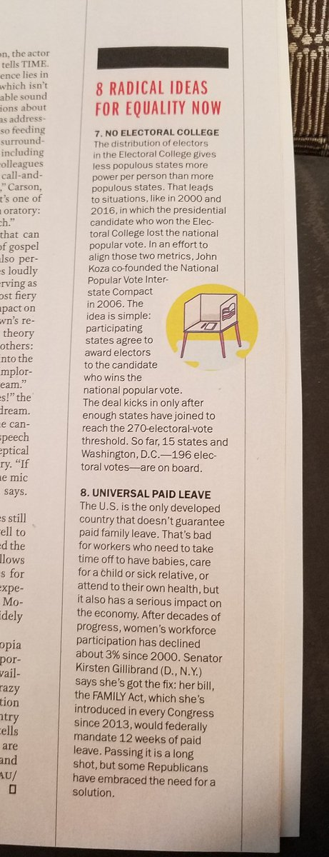 """Reading about the legacy of #martinlutherkingjr  in the Time magazine. I saw """"8 radical ideas for equality now"""" in there. Most of them are what Bernie supports. <br>http://pic.twitter.com/L9v1dcoaqX"""