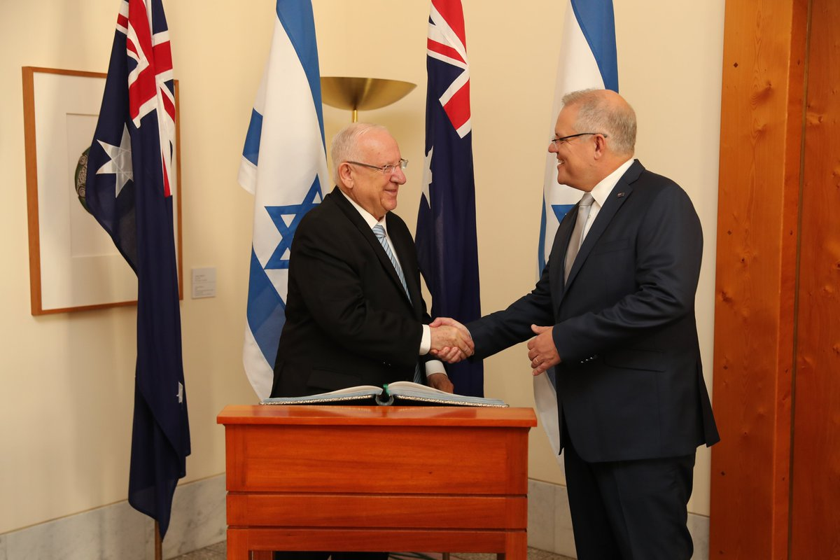 This morning I warmly welcomed @PresidentRuvi of Israel to Parliament House. Australia and Israel have the deepest of friendships, and it was a welcome opportunity to reaffirm and deepen this partnership.