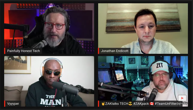Thanks Jonathan Endicott of @SlickWraps for coming on the Painfully Honest Tech Podcast tonight.  The audio version should be up on your favorite podcast app by Thursday (Apple, Spotify, etc).  @robertoblake & @jon_prosser also dropped by!   Re-play https://youtu.be/UNxqc_KMqN4 pic.twitter.com/Li7puvzfJQ