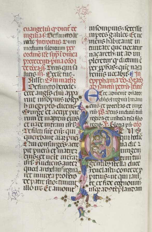 Missale: Fol. 30v: Adoration of the Magi, Bartolommeo Caporali, 1469  #cmaopenaccess #MedievalArt