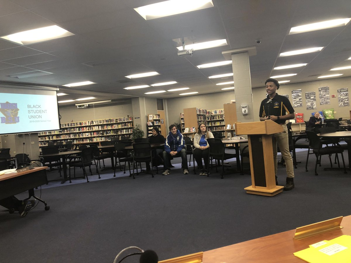 Thanks to our District Student Leadership Council for updating our BOE on upcoming WTHS events including Thursday evening's Black History Month Showcase at OP! pic.twitter.com/faLVy2N1pw